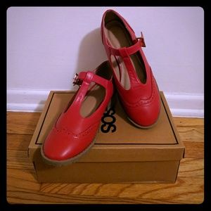ASOS Shoes - ASOS Chunky Red Mary Janes